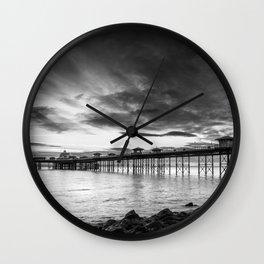 Monochrome Pier Wall Clock