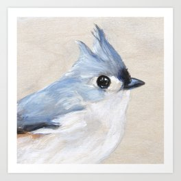 I Won't Make A Peep - Tufted Titmouse Art Print