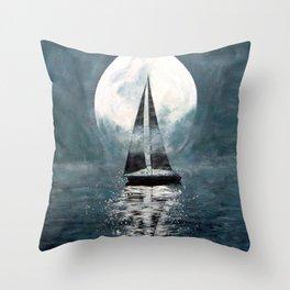 Sail Me To The Moon Throw Pillow