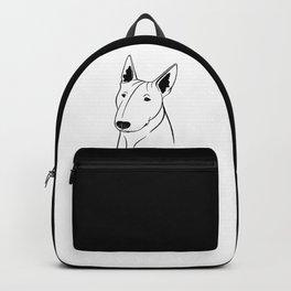 Bull Terrier (Black and White) Backpack