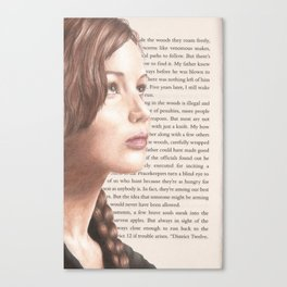 The Girl on Fire Canvas Print