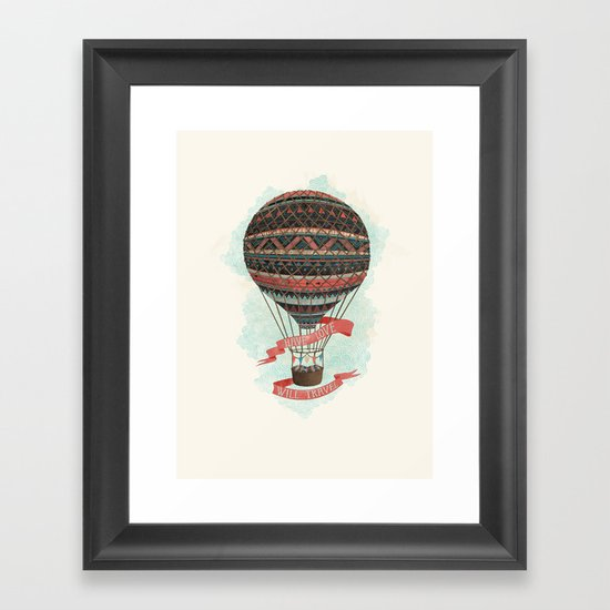 have love, will travel Framed Art Print