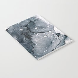Icy Payne's Grey Abstract Bubble / Snow Painting Notebook