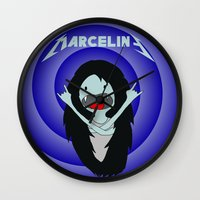 marceline Wall Clocks featuring Metal Marceline by totemxtotem