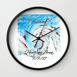 Hurricane Irma II Wall Clock