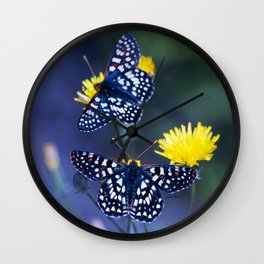 The Checkerspot Couple Wall Clock