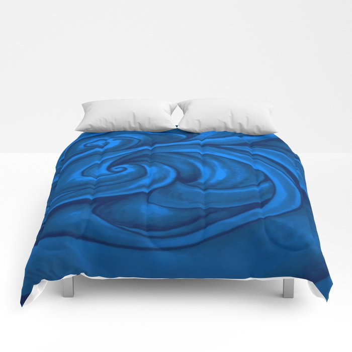 swirl (dark blue) Comforters