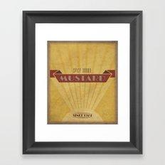Spicy Brown Mustard Framed Art Print