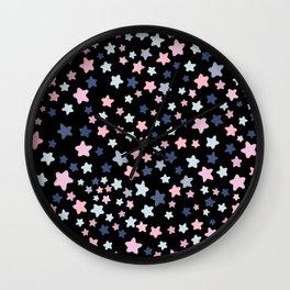 Little Pastel Stars Wall Clock