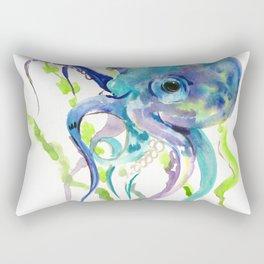 Underwater Scene Design, Octopus Rectangular Pillow