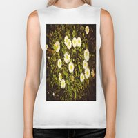 daisy Biker Tanks featuring Daisy by ArtSchool