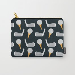 Golf Pattern (Black) Carry-All Pouch