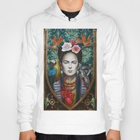 frida Hoodies featuring Frida by Sophie Wilkins