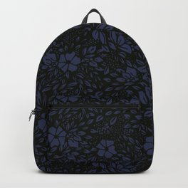 Abstract - kind of damasc french style wrapping paper - Deep Blue and blak Backpack