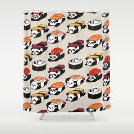 Sushi Panda Shower Curtain