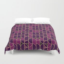 Art Deco Morning Dance In Purple Duvet Cover