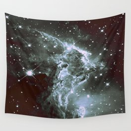 Steel Blue Galaxy : Monkey Head Nebula Wall Tapestry