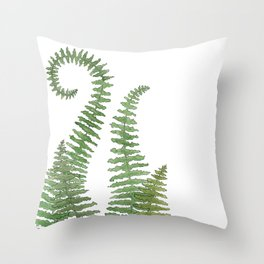 Flowing Fern Throw Pillow