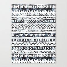 Tribal Stripe - B & W Canvas Print