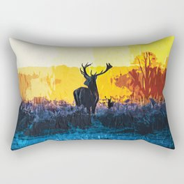 The water, the fire and the deer Rectangular Pillow