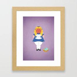Alice in worriedland Framed Art Print
