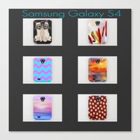 samsung Canvas Prints featuring  New Samsung Galaxy S4 by  Alexia Miles photography