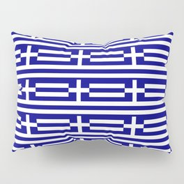 flag of greece 2-Greece,flag of greece,greek,Athens,Thessaloniki,Patras,philosophy,theater,tragedy Pillow Sham