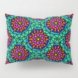 Bright Colourful Mandala print Pillow Sham
