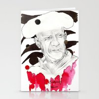 picasso Stationery Cards featuring Picasso by Mitja Bokun