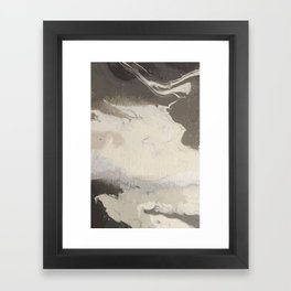 Marbled Hot Chocolate Framed Art Print