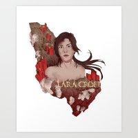 lara croft Art Prints featuring Lara Croft by Natalie Lucht