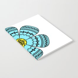 Hippie Geometric Flower Notebook