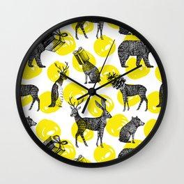 half animals pattern Wall Clock