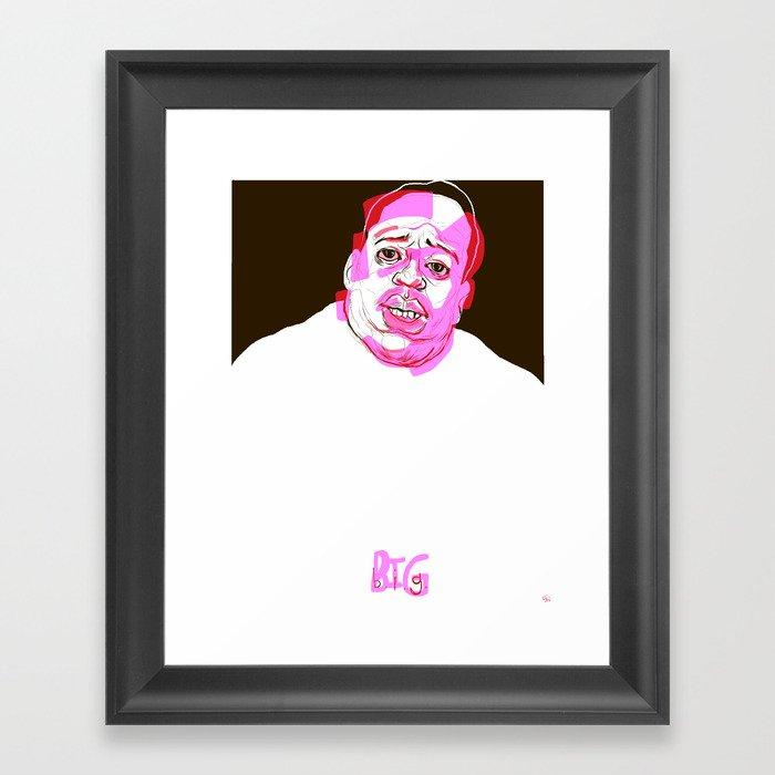 b.i.g. Framed Art Print by countblackula   Society6