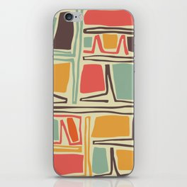 Whimsical abstract pattern design iPhone Skin