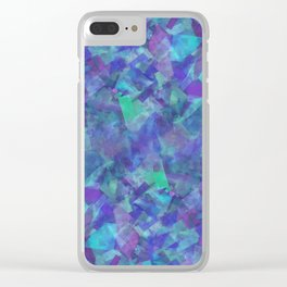 Iridescent Fragments Clear iPhone Case