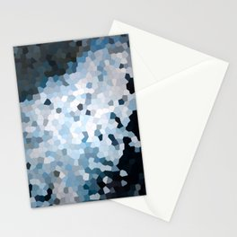 Darkness Meets Light Geometric Stationery Cards