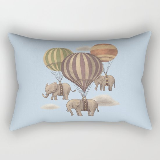 Flight of the Elephants - colour option Rectangular Pillow