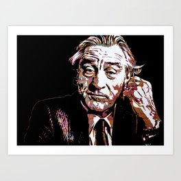 Portrait pop art Robert de Niro Art Print