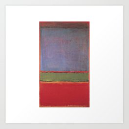 1951 No 6 Violet Green and Red by Mark Rothko Art Print