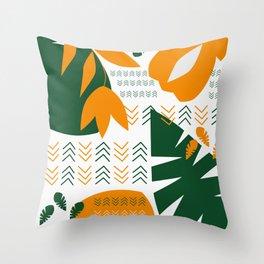 Abstract bohemian garden Throw Pillow