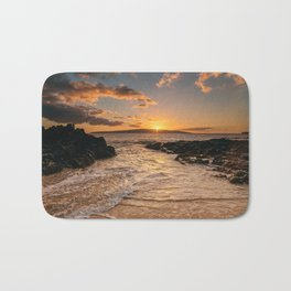 Sunset at Secret Beach Bath Mat