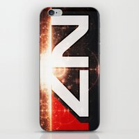 n7 iPhone & iPod Skins featuring Mass Effect N7 by Anthony.Ch
