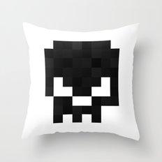 8bit pixelated skull. Throw Pillow