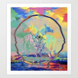 Glitch Horse II Art Print