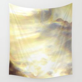 Christmas Lights and White Wine Wall Tapestry