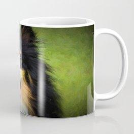 Tri colored Shetland Sheepdog Sheltie Coffee Mug