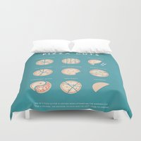 pizza Duvet Covers featuring Pizza by Travel Poster Co.