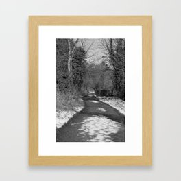 A Run on the Banks Donegal bw Framed Art Print