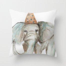Elephant Sized Fun Throw Pillow